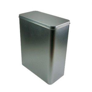 Lata plata rectangular 250 gramos