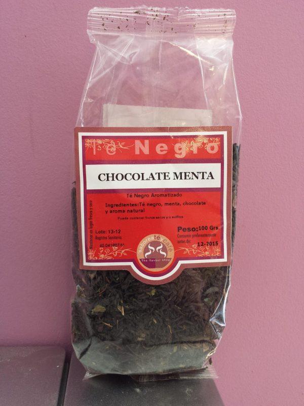 te negro chocolate menta