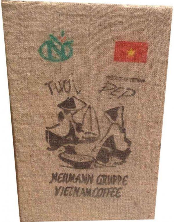 cuadro de saco de café