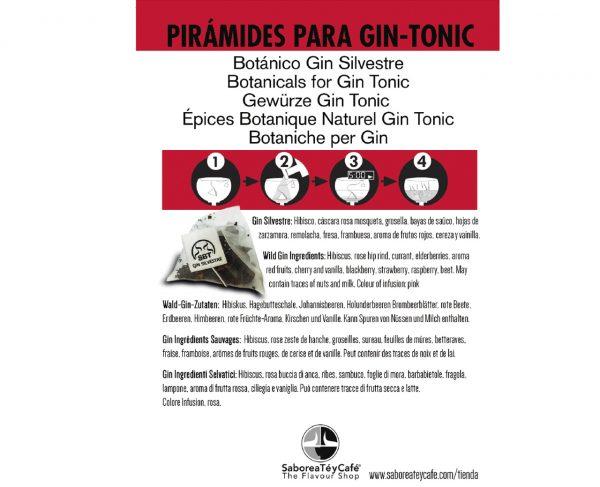 flyer gin botanico silvestre The Flavour Shop. Tu tienda online de té, café, rooibos e infusiones Saboreaté y Café