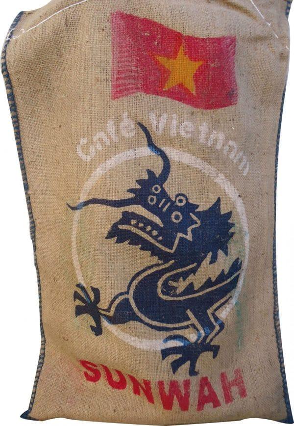 Saco de yute para decoración