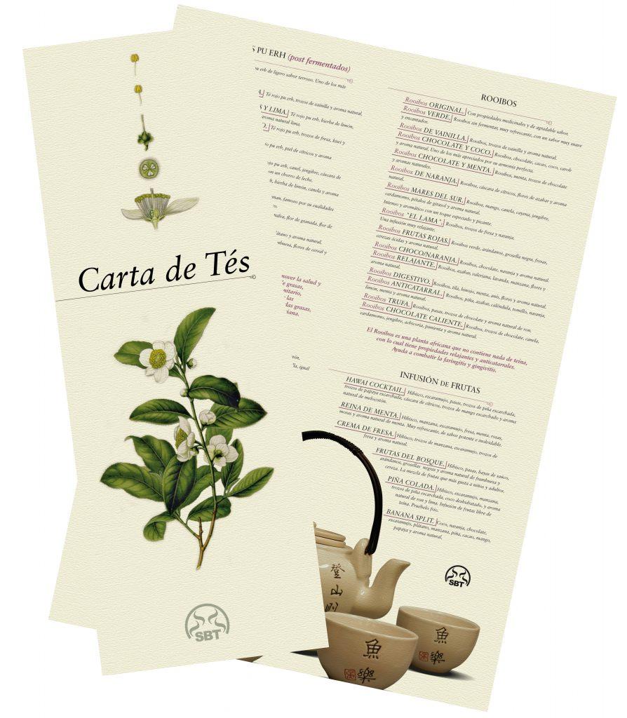 12 carta te The Flavour Shop. Tu tienda online de té, café, rooibos e infusiones Saboreaté y Café
