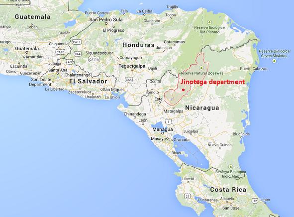 Jinotega dep map 1 The Flavour Shop. Tu tienda online de té, café, rooibos e infusiones Saboreaté y Café