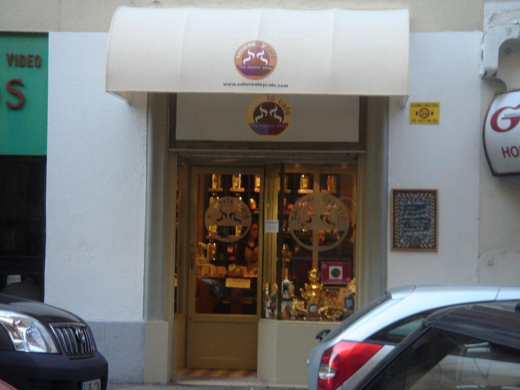 fachada The Flavour Shop. Tu tienda online de té, café, rooibos e infusiones Saboreaté y Café