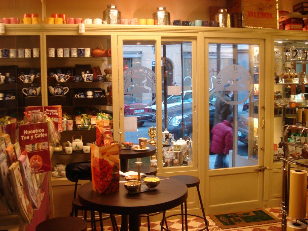 interior The Flavour Shop. Tu tienda online de té, café, rooibos e infusiones Saboreaté y Café